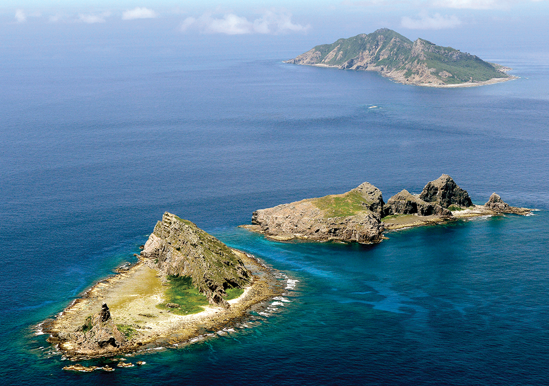 An aerial view of the disputed islands in the East China Sea, known as Senkaku in Japan and Diaoyu in China REUTERS