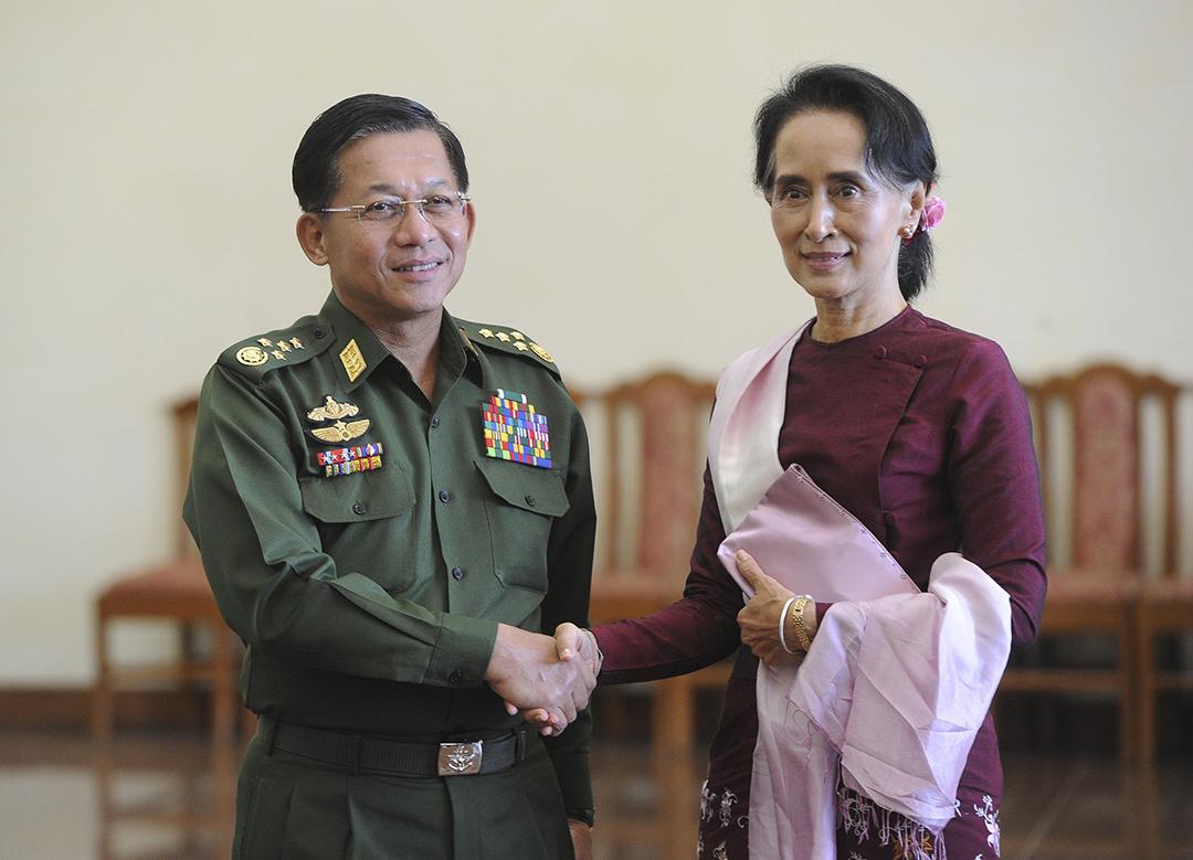 Talks of a peaceful power shift in Burma