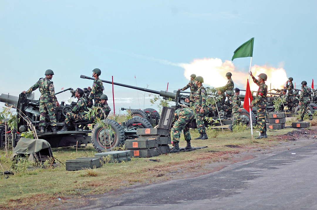 Air defence firing at Cox's Bazar, Air Defence Range [General Staff Branch]