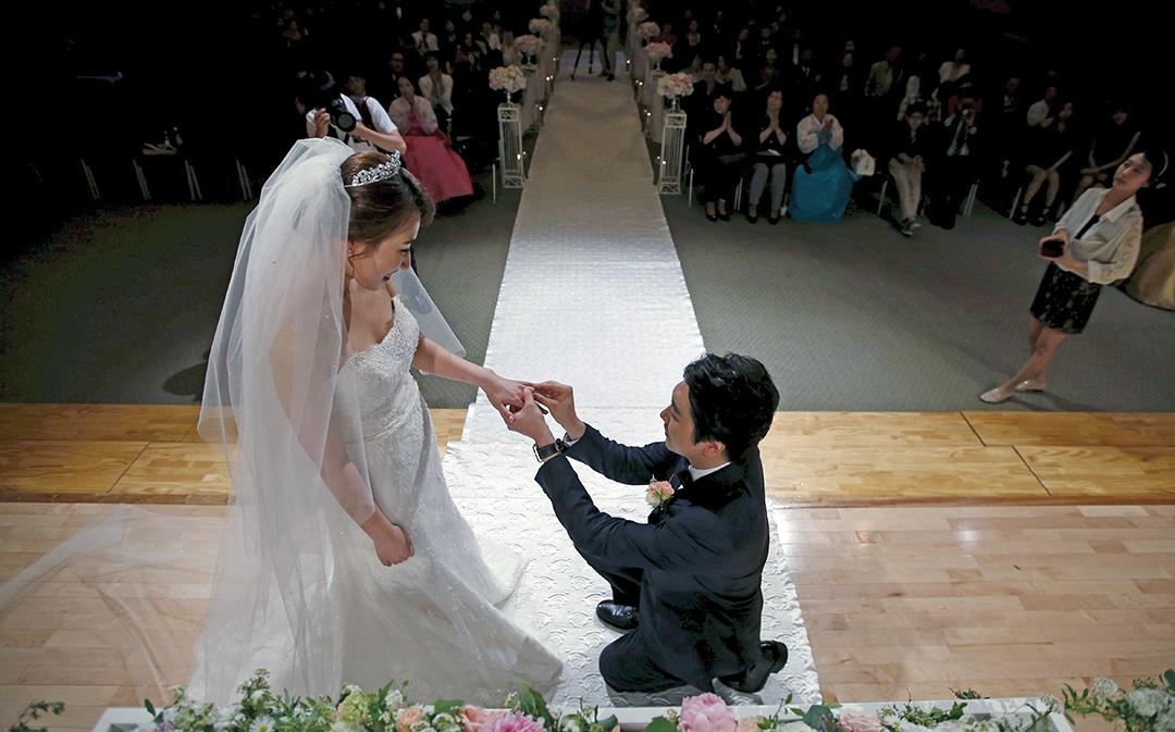 งานแต่งงานเล็ก ๆ แต่งดงามของบ่าวสาวเกาหลีใต้