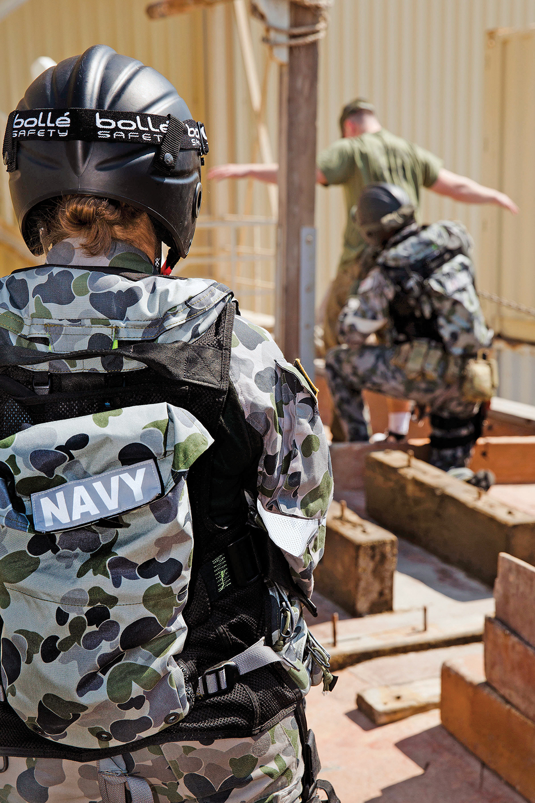 Royal Australian Navy Sailors conduct visit, boarding, search and seizure training.