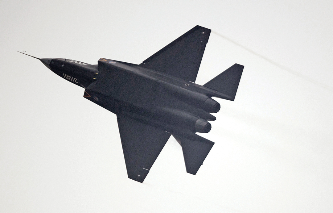 A Chinese J-31 stealth fighter performs at Airshow China 2014. AFP/GETTY IMAGES