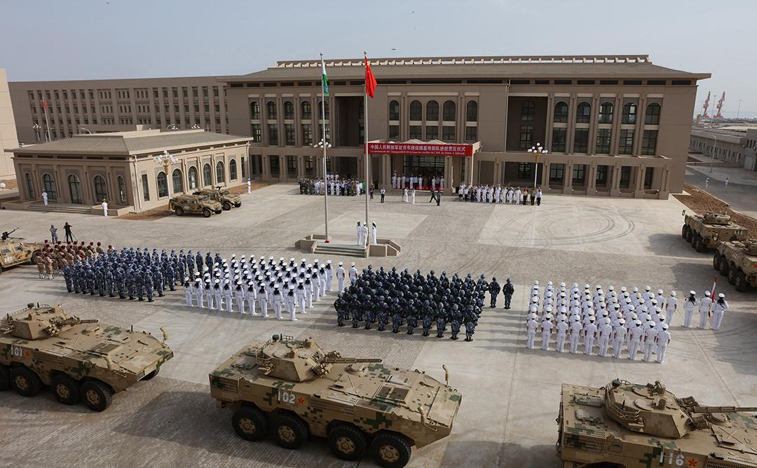 China expands influence with military base in Africa