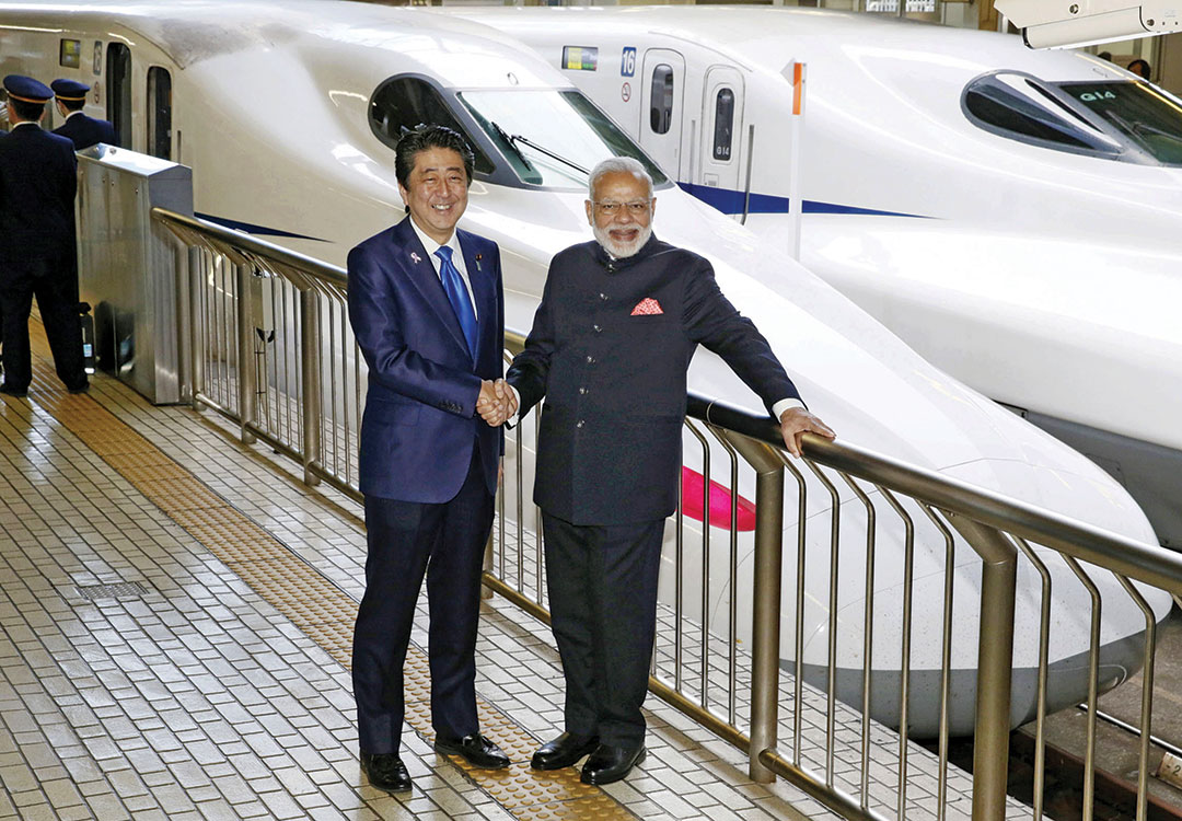 Japan and India: PM ABE launches Indian bullet train deal
