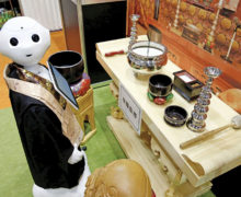 Robot for hire to perform Buddhist funerals