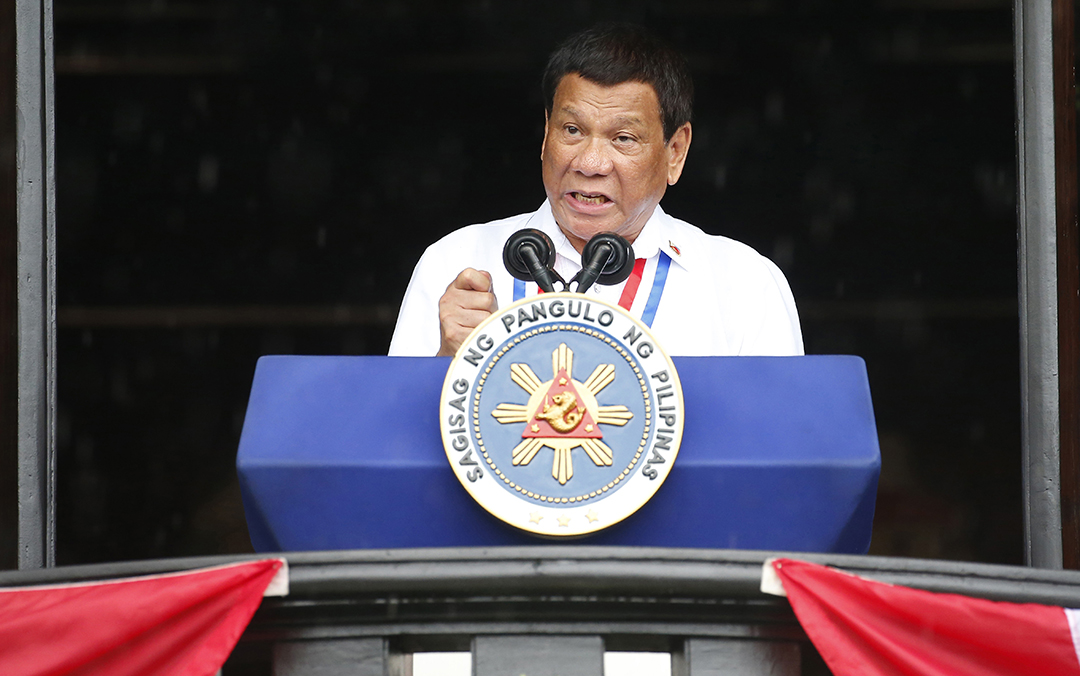 Duterte calls PRC claim to airspace above South China Sea 'wrong'