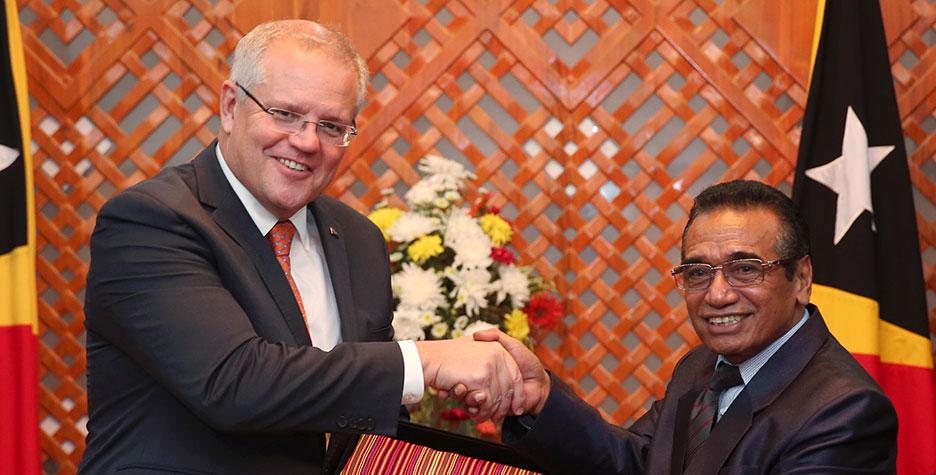 Australia membangun infrastruktur internet dan pangkalan angkatan laut Timor-Leste