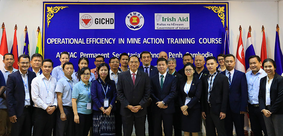 地雷除去の協力体制を強化する東南アジア諸国