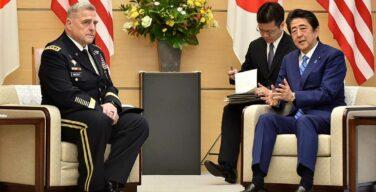 日米韓の三国間協力関係が安全への鍵と表明する日本