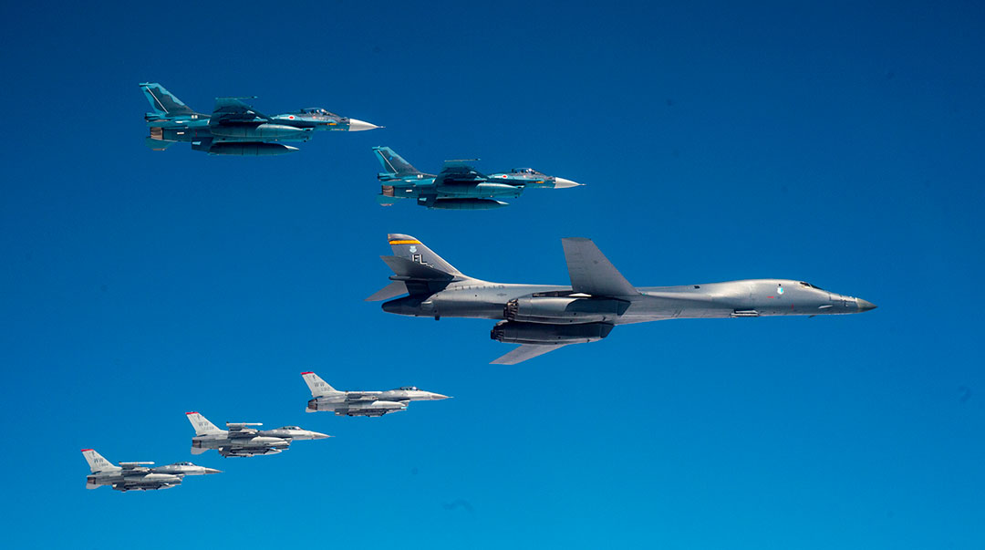 Bilateral exercise demonstrates new bomber strategy in Indo-Pacific