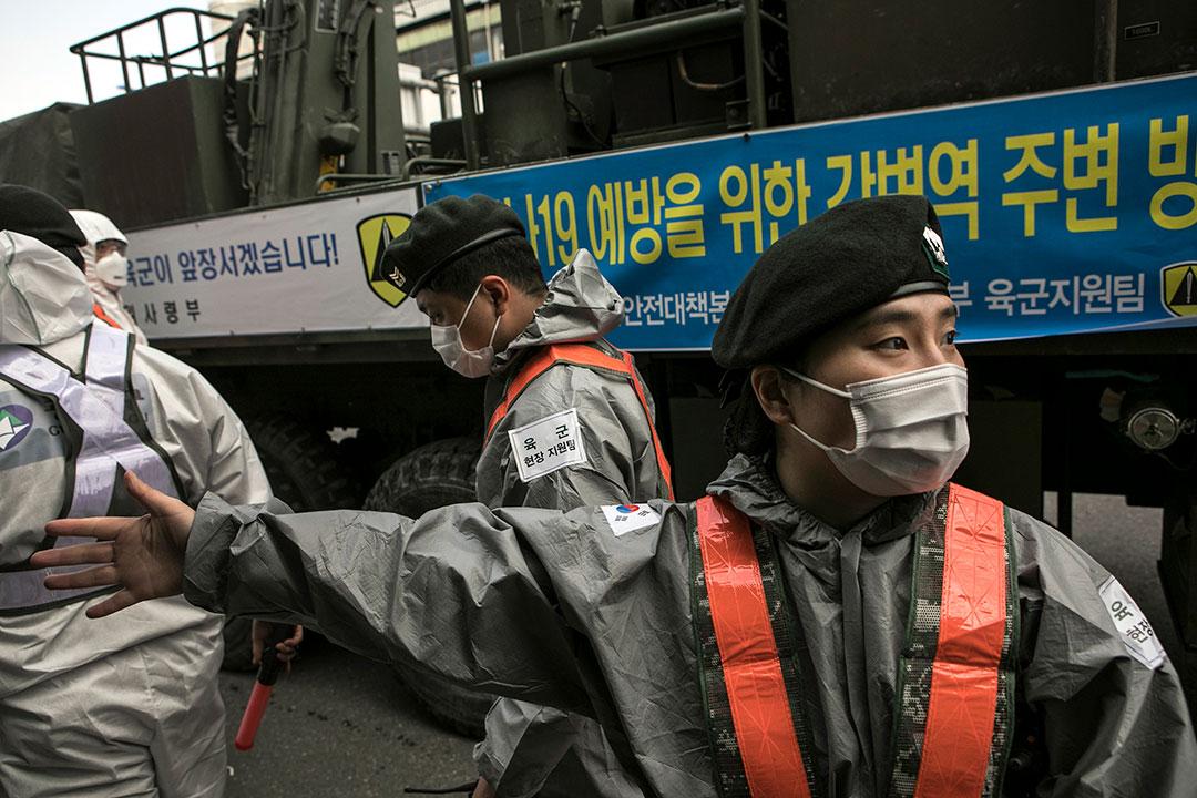 Kesiapsiagaan warga sipil dan dukungan militer menjadi kunci bagi tanggapan COVID-19 Korea Selatan