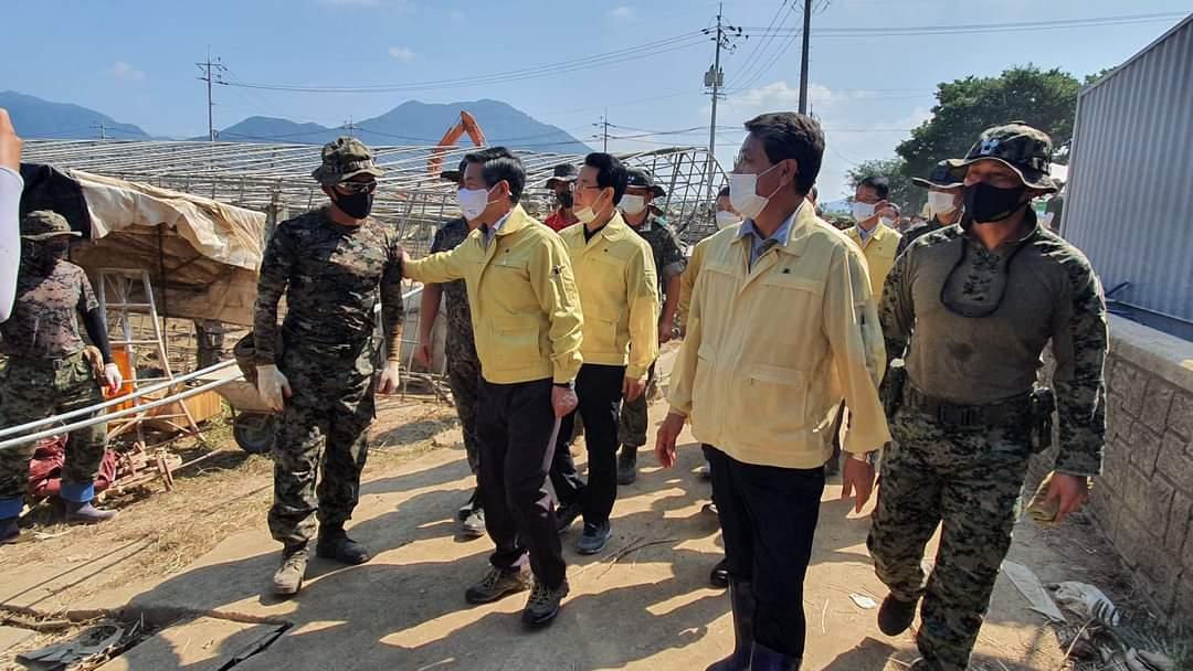 雨季天气恶劣,韩国军队及其伙伴保护公众