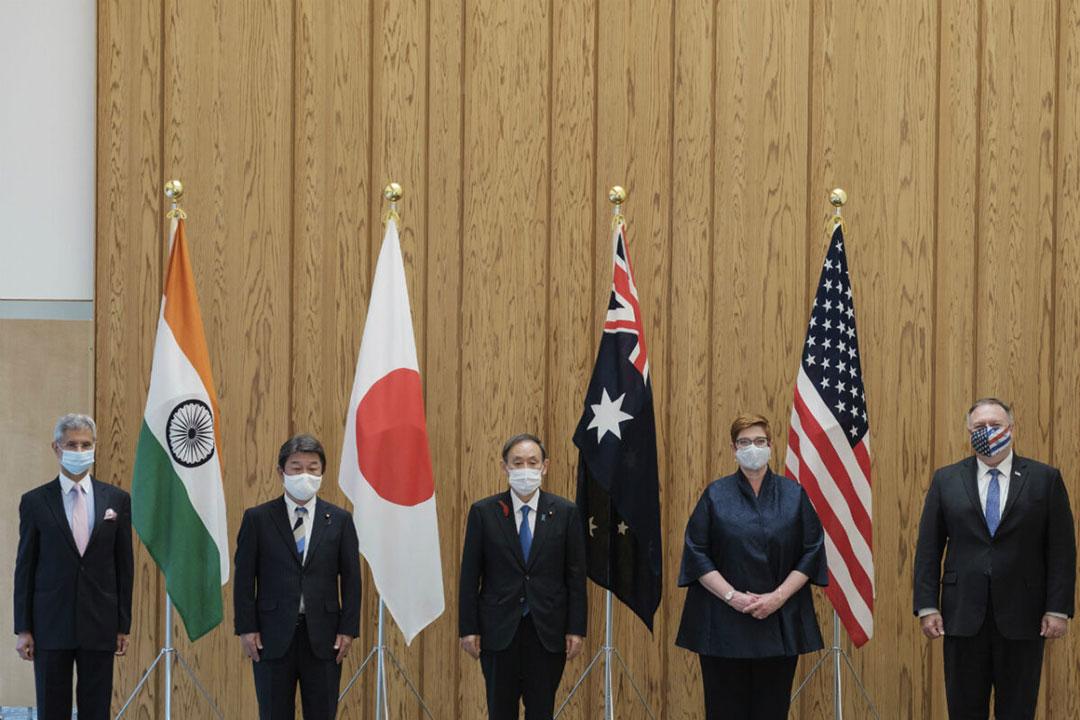 ออสเตรเลีย อินเดีย ญี่ปุ่น และสหรัฐฯ ร่วมกันหารือเกี่ยวกับการคุกคามของจีน