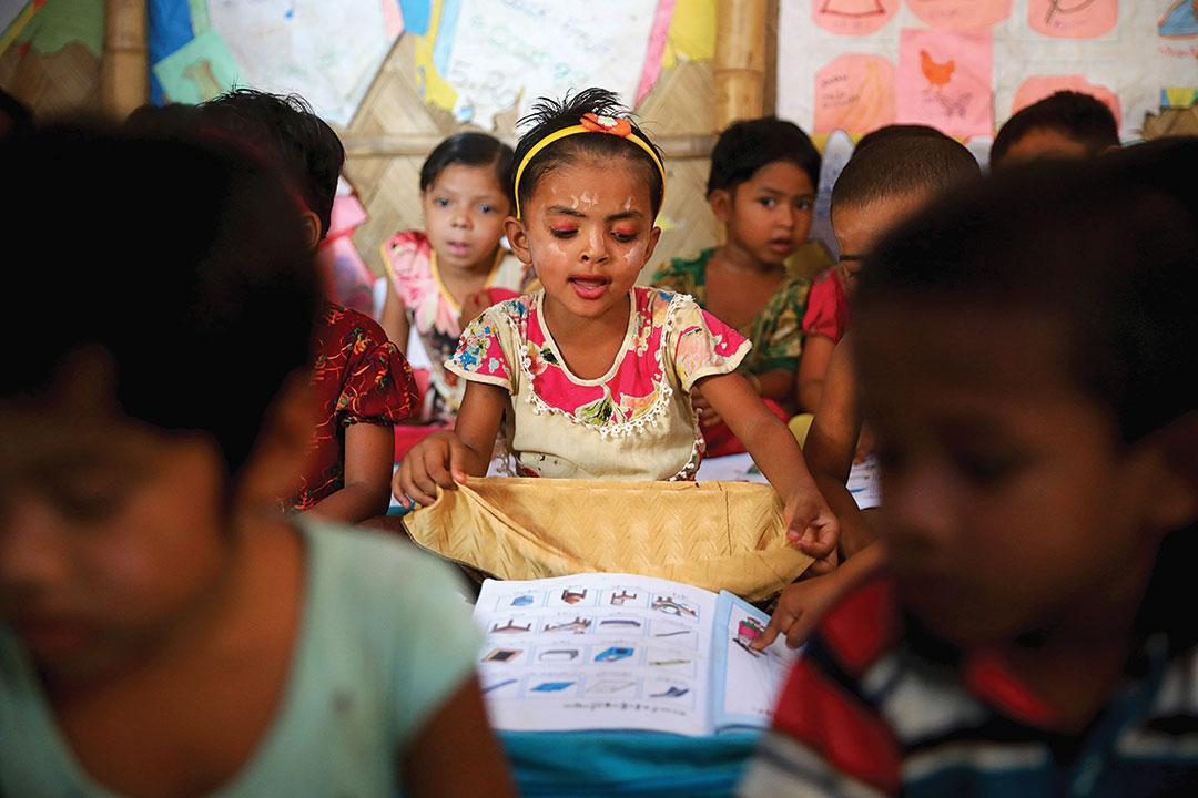 孟加拉国: 增加难民营儿童 受教育的机会