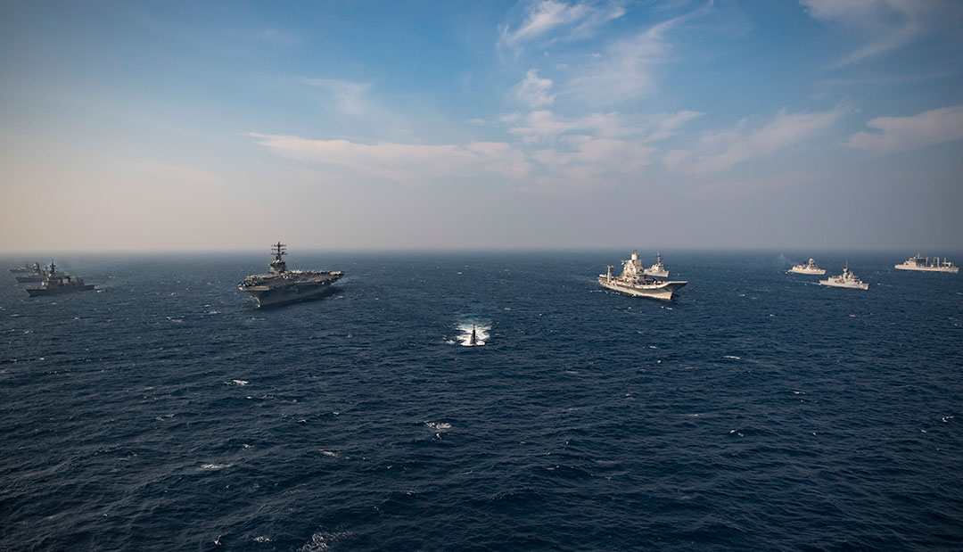Quad navies finish second phase of Malabar in Arabian Sea