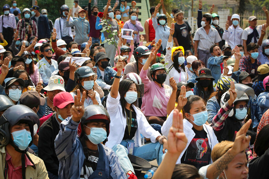 国际社会制裁参与缅甸政变的军政府领导人、军人和警察