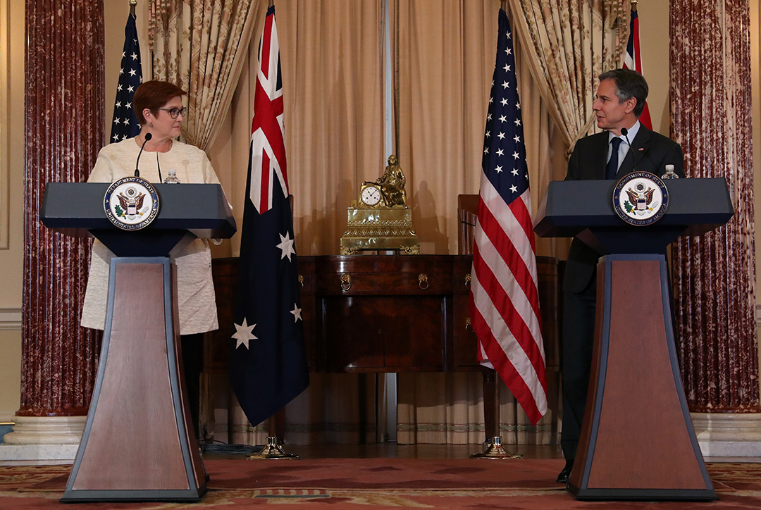 U.S. vows to stand with Australia as it faces Chinese coercion