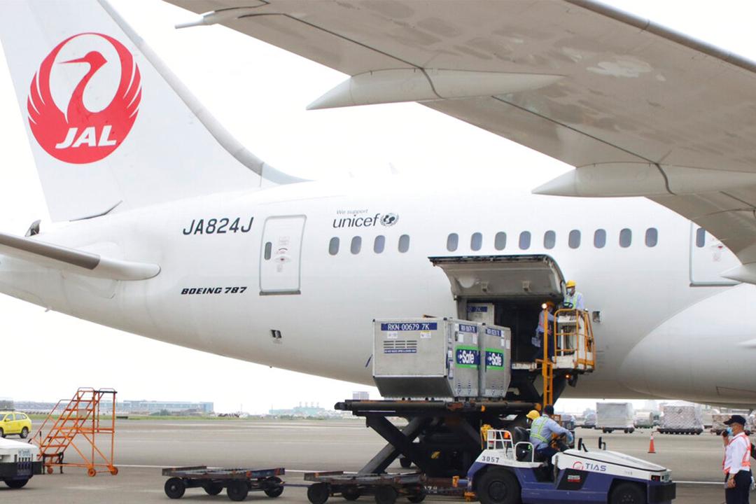 台湾を支援するため、日本はアストラゼネカ(AstraZeneca)製ワクチン124万回分を台湾に寄贈した(AP)