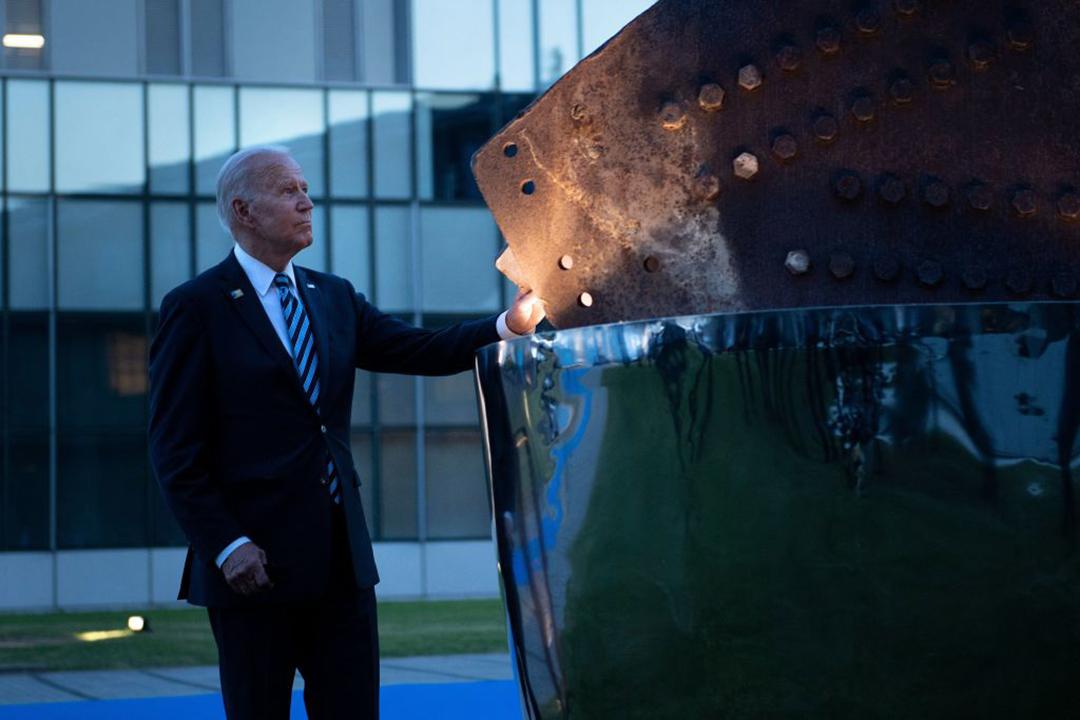 バイデン米大統領が北大西洋条約機構の首脳会議に初参加:厳しい対中方針を採用(AFP/GETTY IMAGES)
