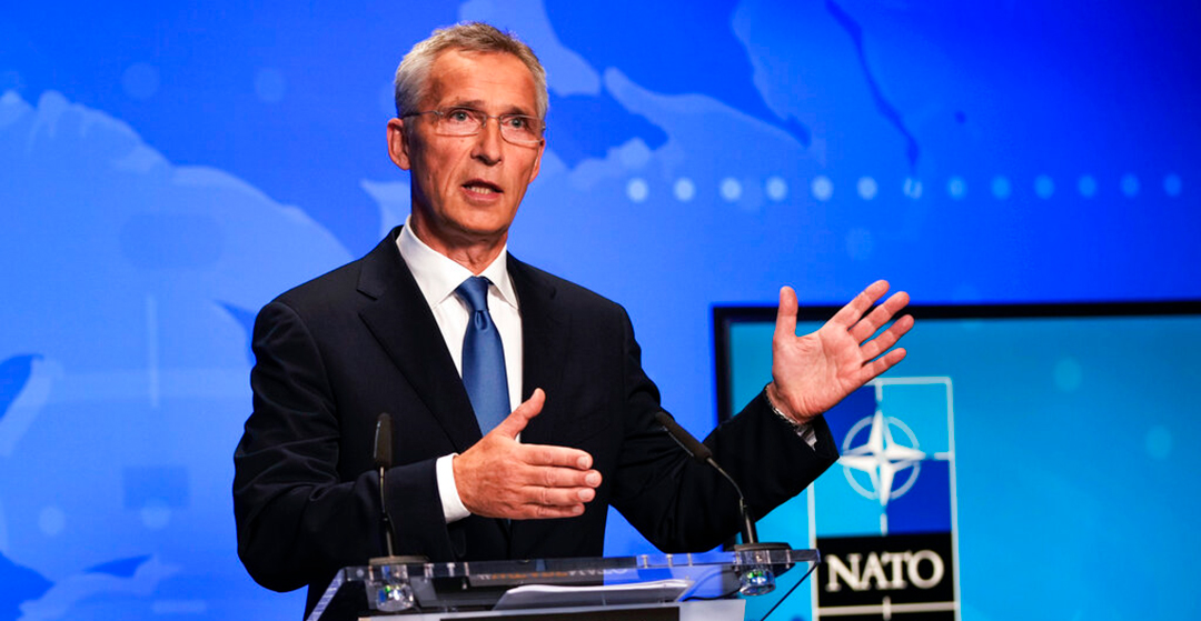 北大西洋条約機構(NATO)のイェンス・ストルテンベルグ事務総長(AP通信社)