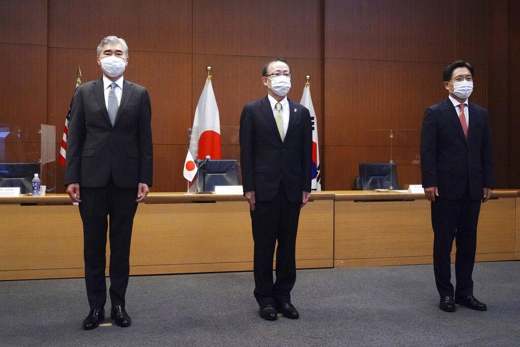 Japan, South Korea, U.S. call on North Korea to return to arms talks