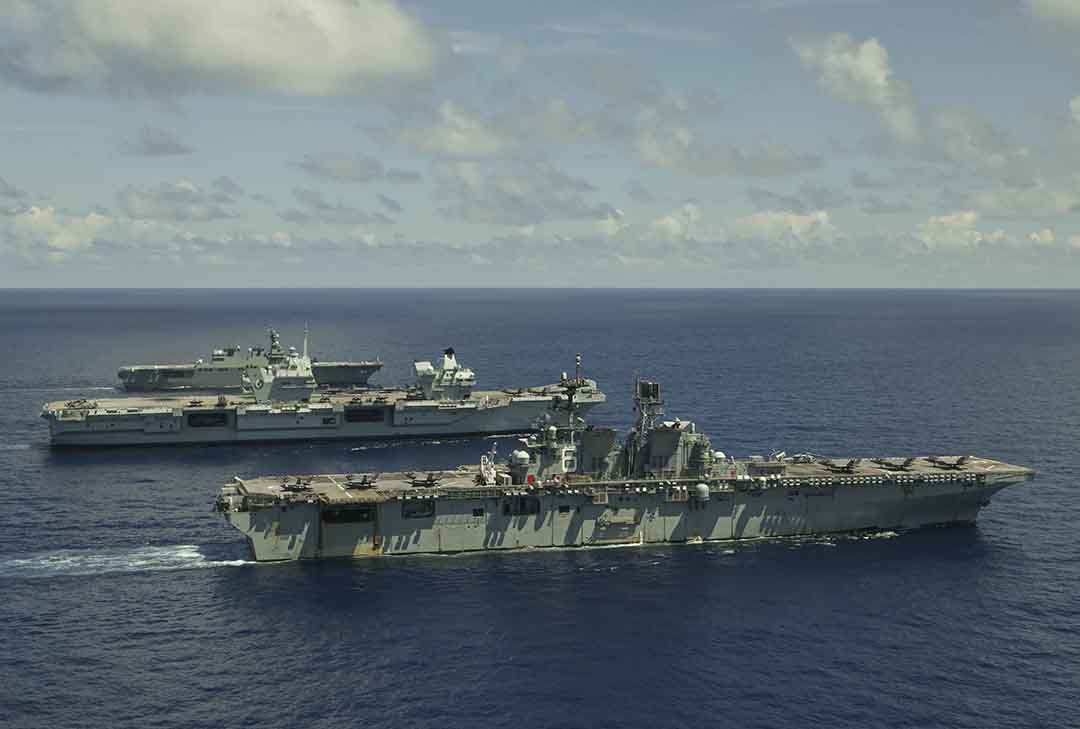 U.K. carrier strike group demonstrates flexibility, interoperability on maiden deployment across Indo-Pacific